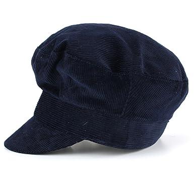 4a487eb9d6d Corduroy breton cap blue john lennon beatles cotton captains hat peak - 58