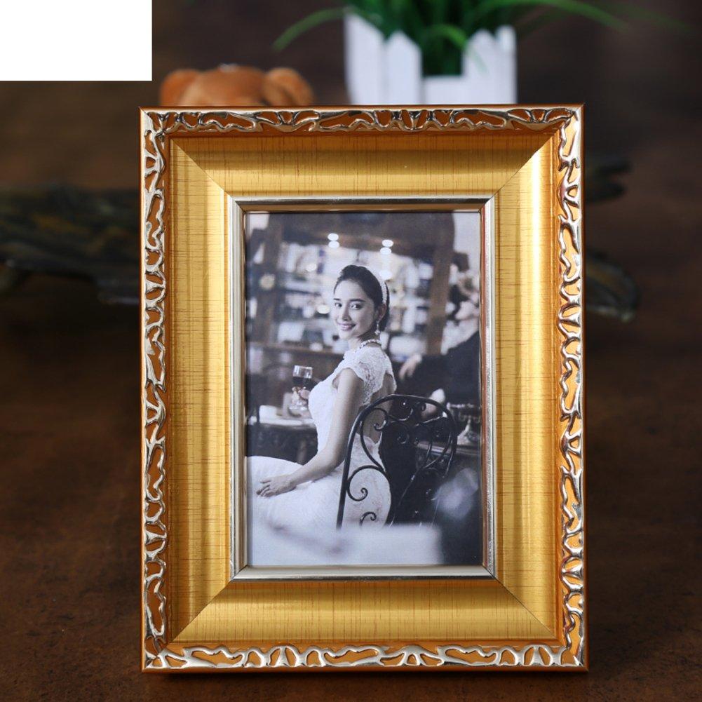 DHWJ Portaretrato Creativo Europeo, Establecer Marco de Fotos,Marco de Mesa de Metal,Marco de Fotos de Pareja de los niños-E 20.3x25.4cm(8x10inch): ...