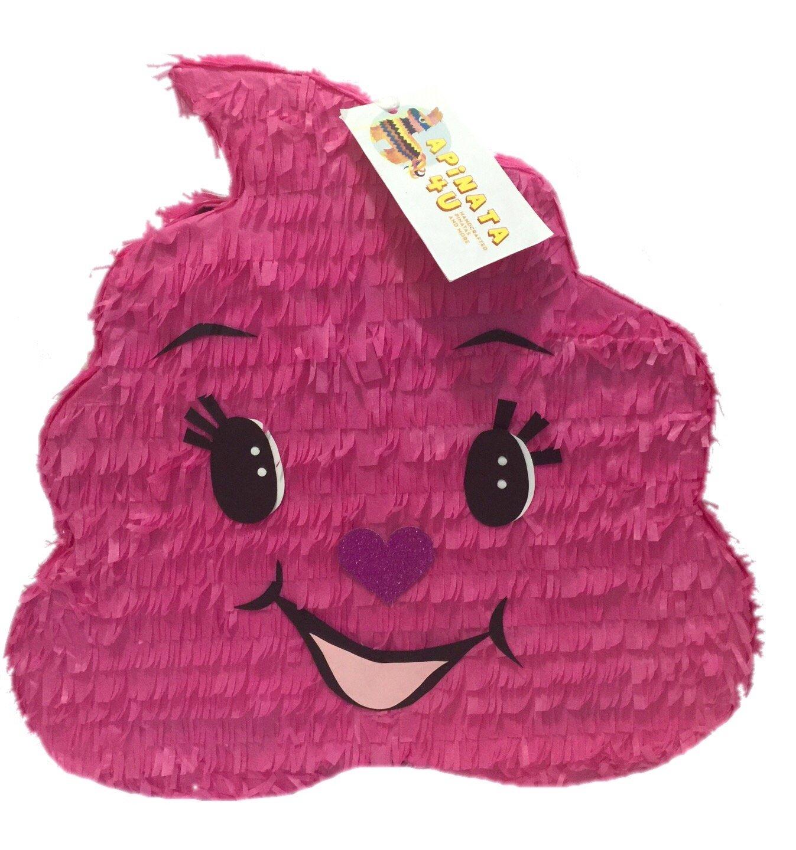 Pink Poop Emoji Pinata