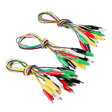 MakerStack 30 piezas de pinzas de cocodrilo Cable eléctrico, juego de cables de prueba con