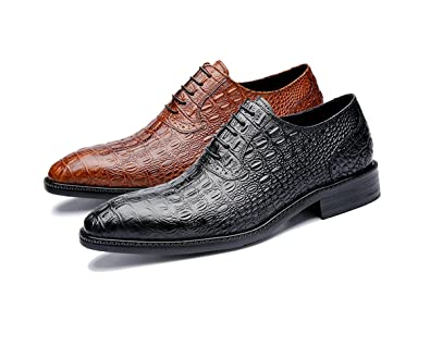 amazon com felix chu men s italian design dress shoes crocodile