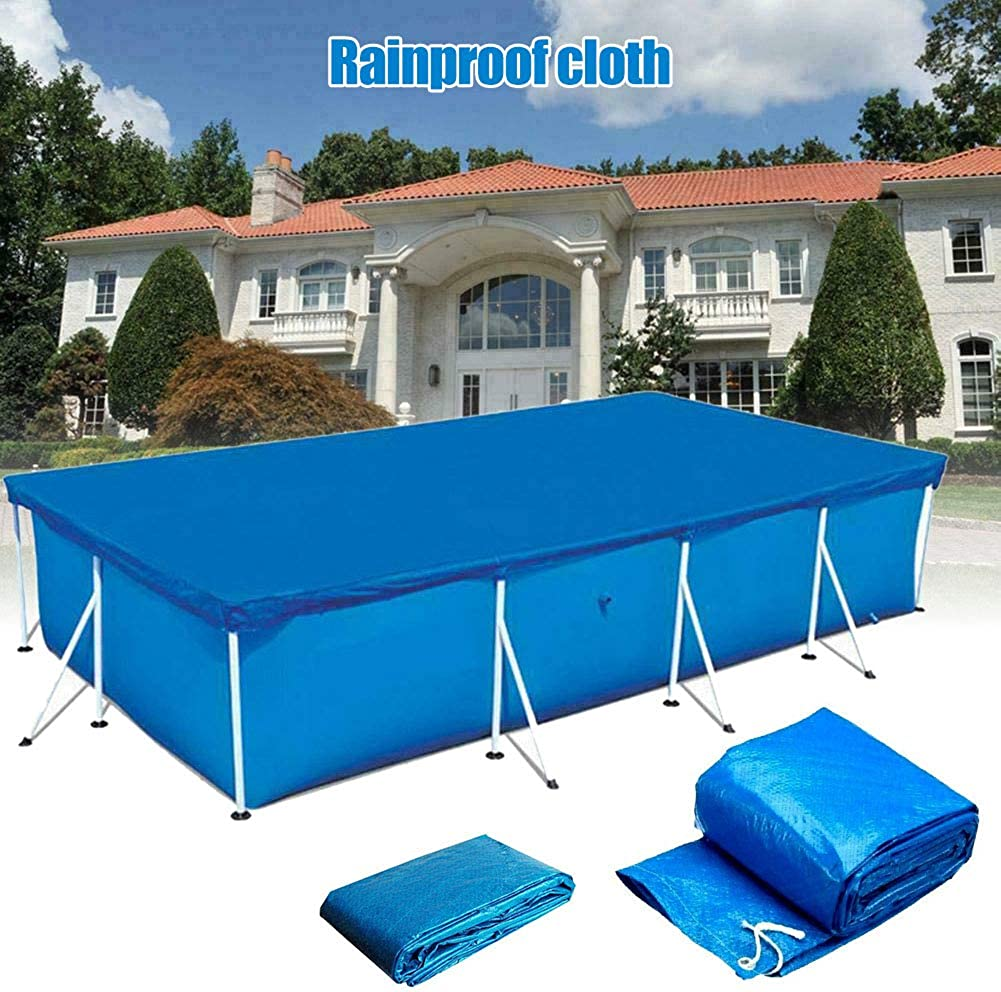 Suppyfly Rectangular Swimming UV-Resistant Pool Cover Waterproof Dustproof Durable Covers