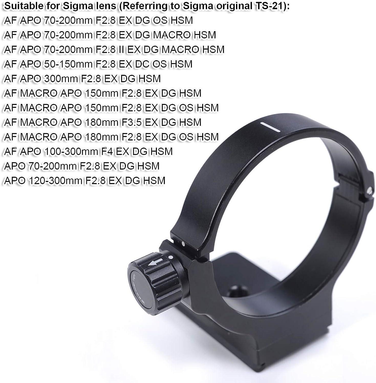 Macro APO 150 mm F2.8 EX DG HSM remplace TS-21 iShoot Bague de fixation en m/étal pour tr/épied Sigma AF APO 300 mm F2.8 EX DG HSM Macro APO 150 mm F2.8 EX DG OS HSM Macro APO 180 mm F3.5 EX DG HSM