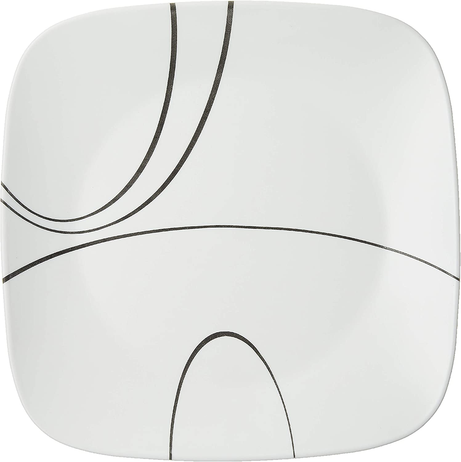 | Corelle Square Simple Lines 10-1/2-Inch Plate Set (6-Piece): Corelle Simple Lines Dishes: Dinnerware Sets