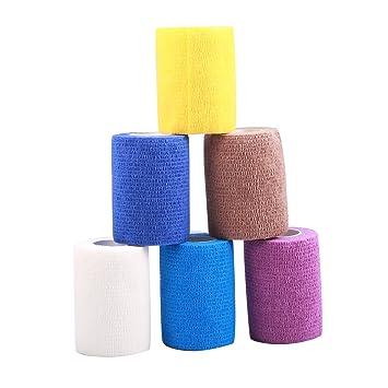 Larcele 6 B/ände Selbstklebende Bandage Multifunktions Klebeband Zuf/ällige Farbe