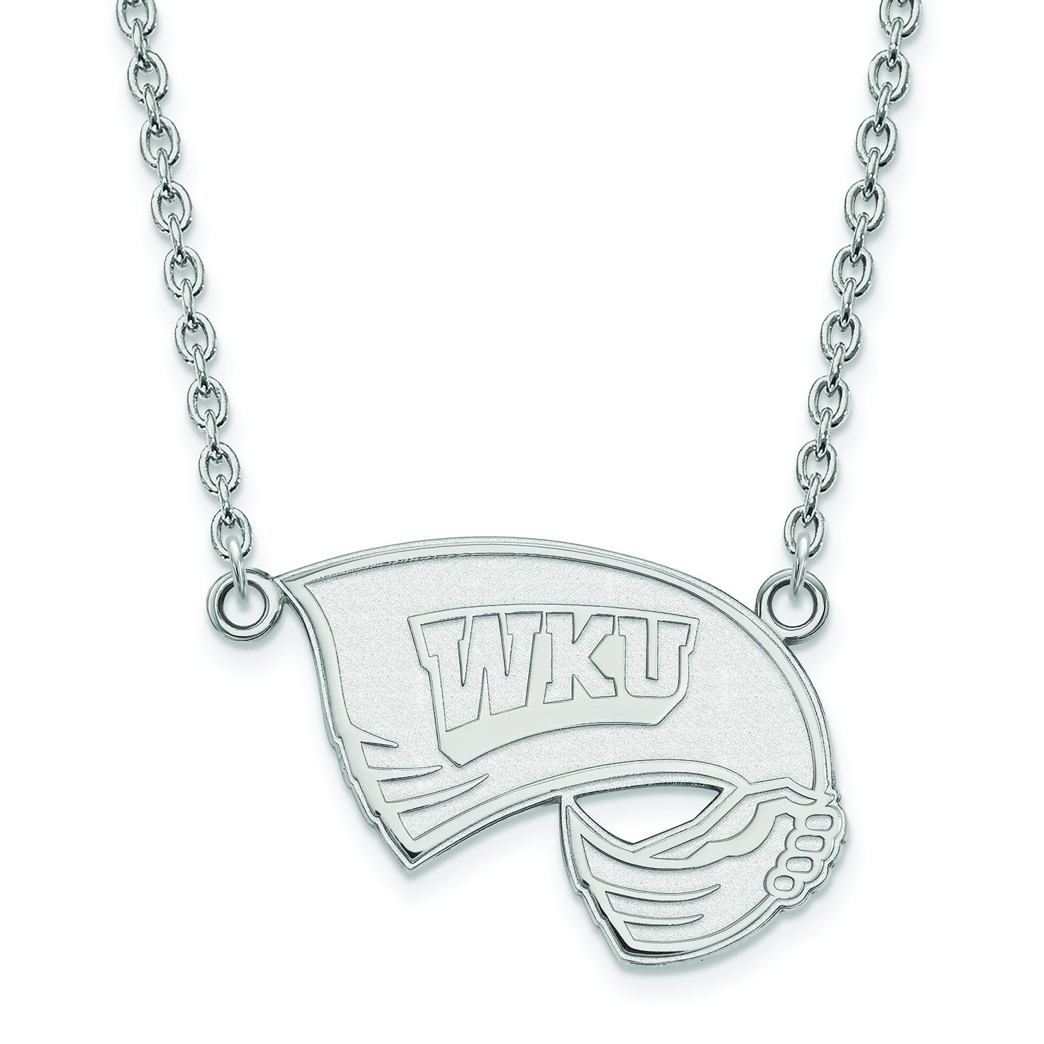 Western Kentucky Large (3 / 4インチ) ペンダントW/ネックレス(Sterling Sliver)   B01JAOUR7C