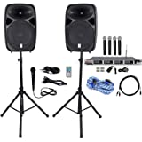 "Rockville Dual 15"" iphone/ipad/Android/Laptop/TV Youtube Karaoke Machine/System"
