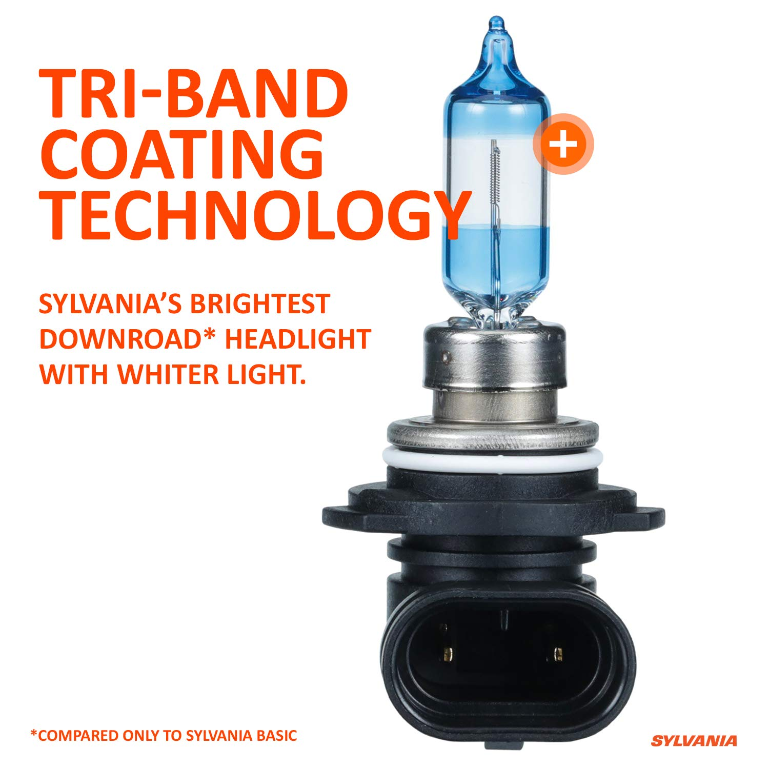 9003SU.BP2 9003 SilverStar Ultra Tri-Band Technology High Performance Halogen Headlight Bulb Brightest Downroad with Whiter Light Low Beam and Fog Replacement Bulb SYLVANIA Contains 2 Bulbs High Beam
