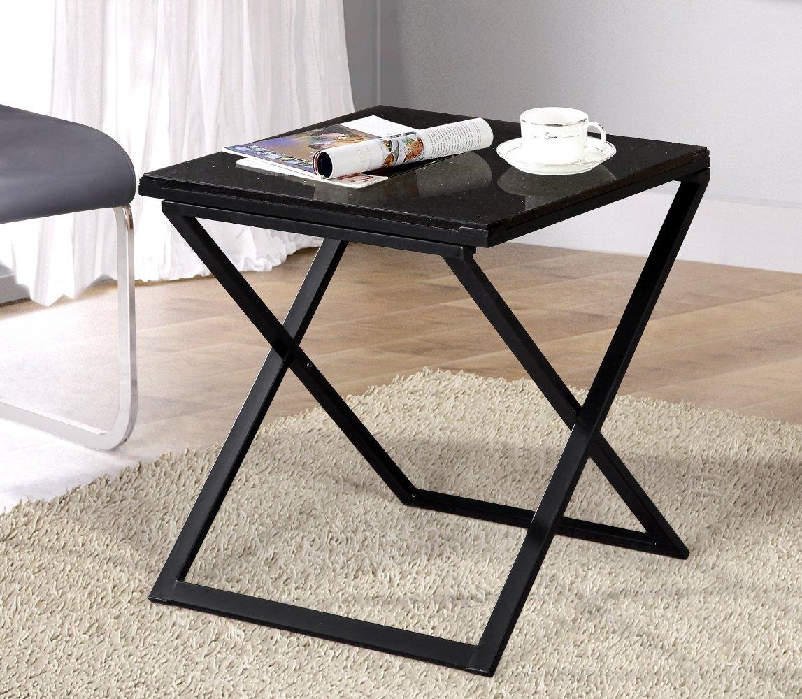 Olee Sleep Galaxy Granite Top Dura Metal Frame Coffee Table/ Tea Table /  End Table/ Side Table/ Office Table/ Computer Table / Vanity Table/ Dining  Table, ...