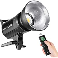 Neewer SL-60W LED Video Light White 5600K Version, 60W CRI 95+, TLCI 90+ with Remote Control and Reflector, Continuous…
