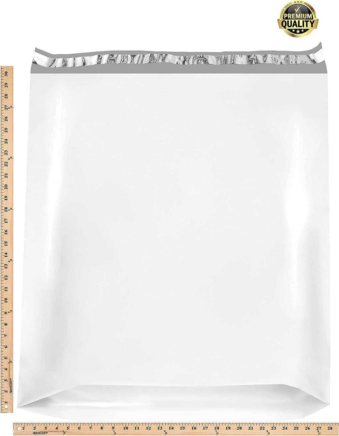 Amazon Com 10 Pack Large Poly Mailers 28 X 30 X 6 Gusseted Poly Mailer Xx Large Poly Shipping Bags For Clothes White Shipping Envelopes White Plastic Mailing Bags Peal And Seal Packaging