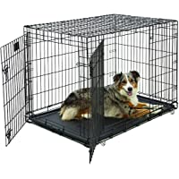 Large Dog Crate | MidWest Life Stages Double Door Folding Metal Dog Crate | Divider Panel,…