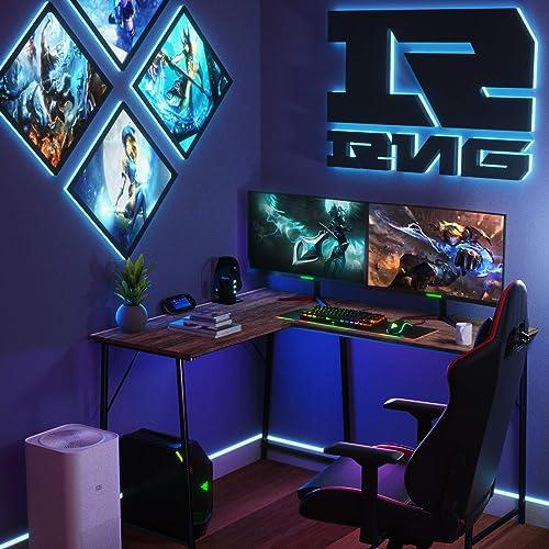 L Shaped Desk Gaming Computer Desk 50.4'' Home Office Corner Desk ps5 Kids Writing Desk Review