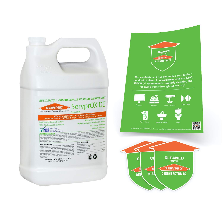 ServprOXIDE Residential, Commercial & Hospital Grade Non-Bleach Surface Disinfectant, 128 Fl. Oz. (1 Gallon Jug)