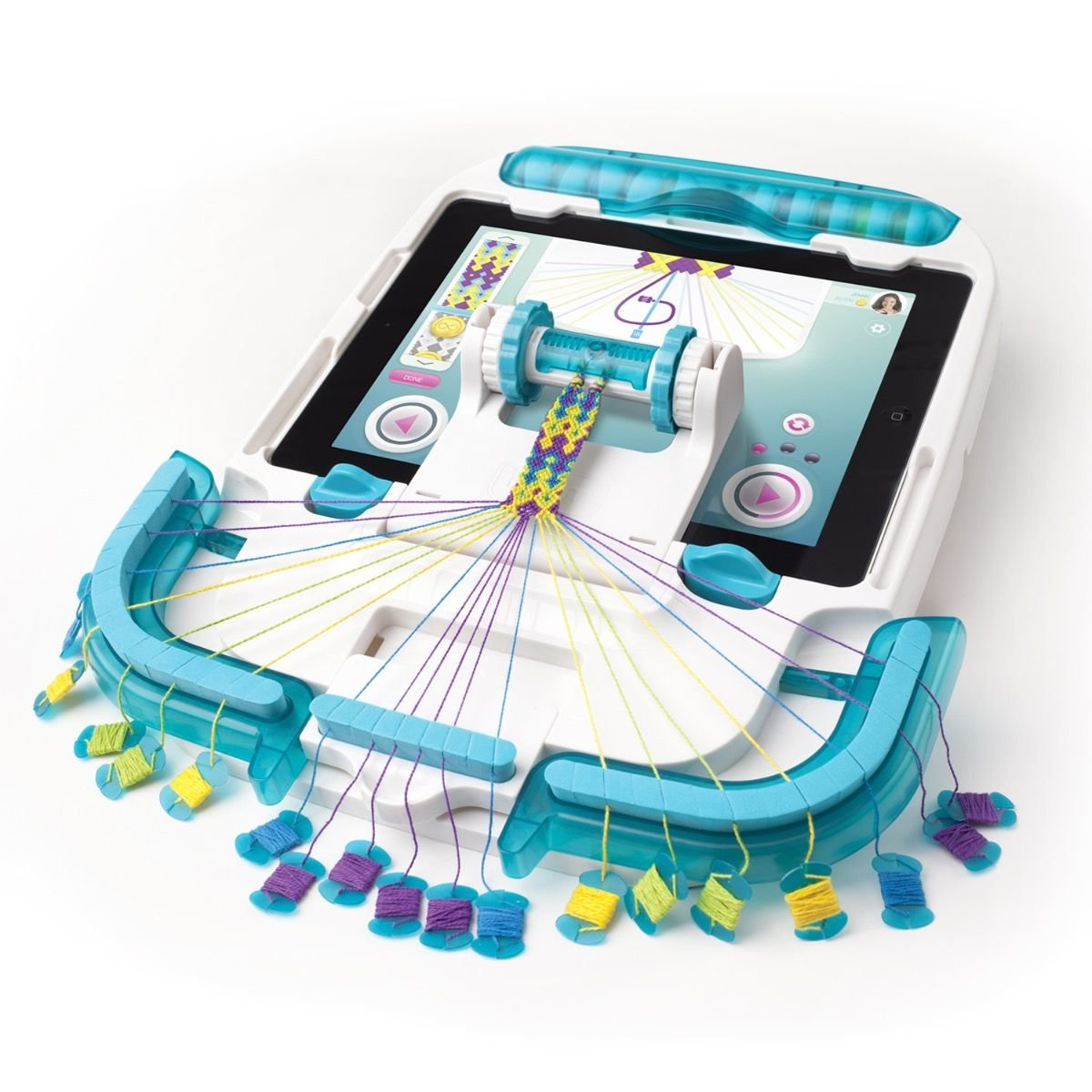 Works with Official App Chevron Friendship Bracelet Maker Weaving // Knitting Loom with Multiple Patterns Bracelet Making Craft Kit i-Loom Deluxe Starter Pack SMU-8008 Style Me Up