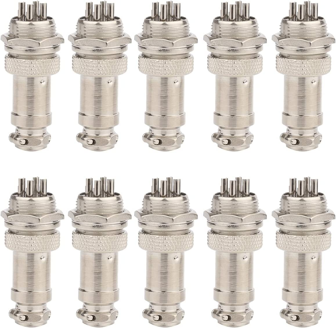 Clyxgs Aviation Plug Connector 4-Pin Male Female Panel Metal Wire Panel Connector 16mm Socket 10PCS
