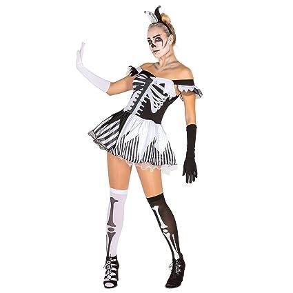 TecTake dressforfun Disfraz de Esqueleto en Blanco y Negro para ...