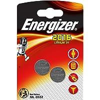 Piles bouton au lithium Energizer 2016, pack de2