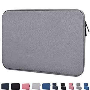 "14-15 Inch Waterproof Laptop Sleeve Case Compatible with Acer Chromebook 14, Macbook Pro 15 Inch, HP Stream 14/Pavilion X360 14, HP Chromebook 14, LG gram 14"", ASUS VivoBook, 14 inch Notebook Bag,Grey"
