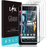 3 Pack LϟK Screen Protector Compatible for Google Pixel 2, New Version, Tempered Glass 9H Hardness, Case Friendly, Installati