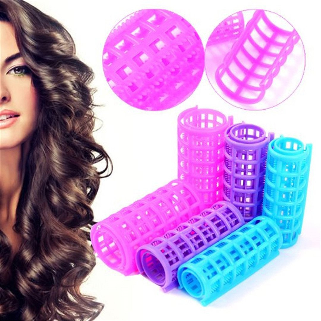 Hair Curlers DIY Hair Salon Curlers Rollers Tool Soft Large ing Tools Plastic 6/8/10/12Pcs 6pcs by HAHUHERT (Image #2)