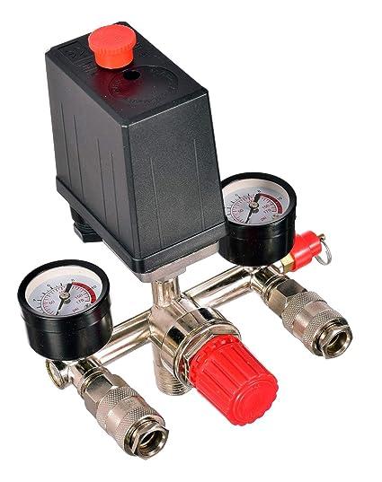 Regulador de presión, compresor de aire, interruptor con acoplamientos rápidos, regulador de aire