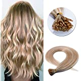 SEGO Pre Bonded Keratin Stick/I Tip Remy Human Hair Extension Cold Fusion Hair Piece for Women Smooth Straight 100…