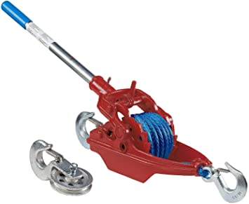 Wyeth Scott More Power Puller 3-35-A-SLT 3-Ton AmSteel-Blue Synthetic Rope Industrial Hand Ratchet Puller/Hoist, 35'