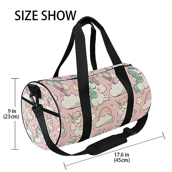 OuLian Gym Bag Cartoon Unicorn Women Yoga Canvas Duffel Bag Cute Sports Bag  for Girls  Amazon.ca  Sports   Outdoors 0211f117e01ba