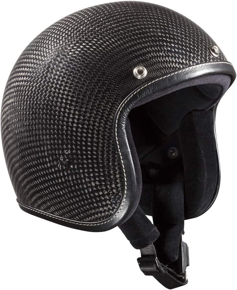 Casco moto abierto Bandit Jet PREMIUM Carbon with leather trim (M)