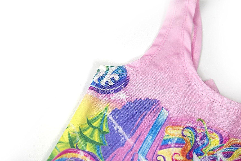 Wenge Girls Bathing Suits Rainbow Unicorn Swimsuits One Piece Swimwear 3-8 Years