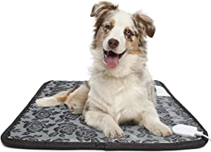 Alayna Pet Heating Pad, for Dog Cat Electric Heated Pad Indoor Waterproof Adjustable Warming Heat Mat with Chew Resistant Steel Cord