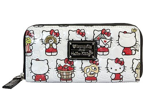 Hello Kitty - Cartera para mujer de Material Sintético Mujer, color Blanco, talla One Size: Amazon.es: Zapatos y complementos