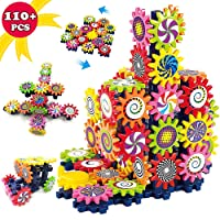 LUKAT STEM Toys Gears Building Set, DIY Plastic Brick Toys, Fun Learning Blocks,...
