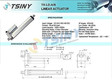 Amazon com: TSINY Stroke 100mm 4