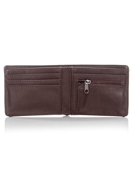622129a93b Amazon.com  Vans Dark Brown Drop V Bifold Wallet (Default