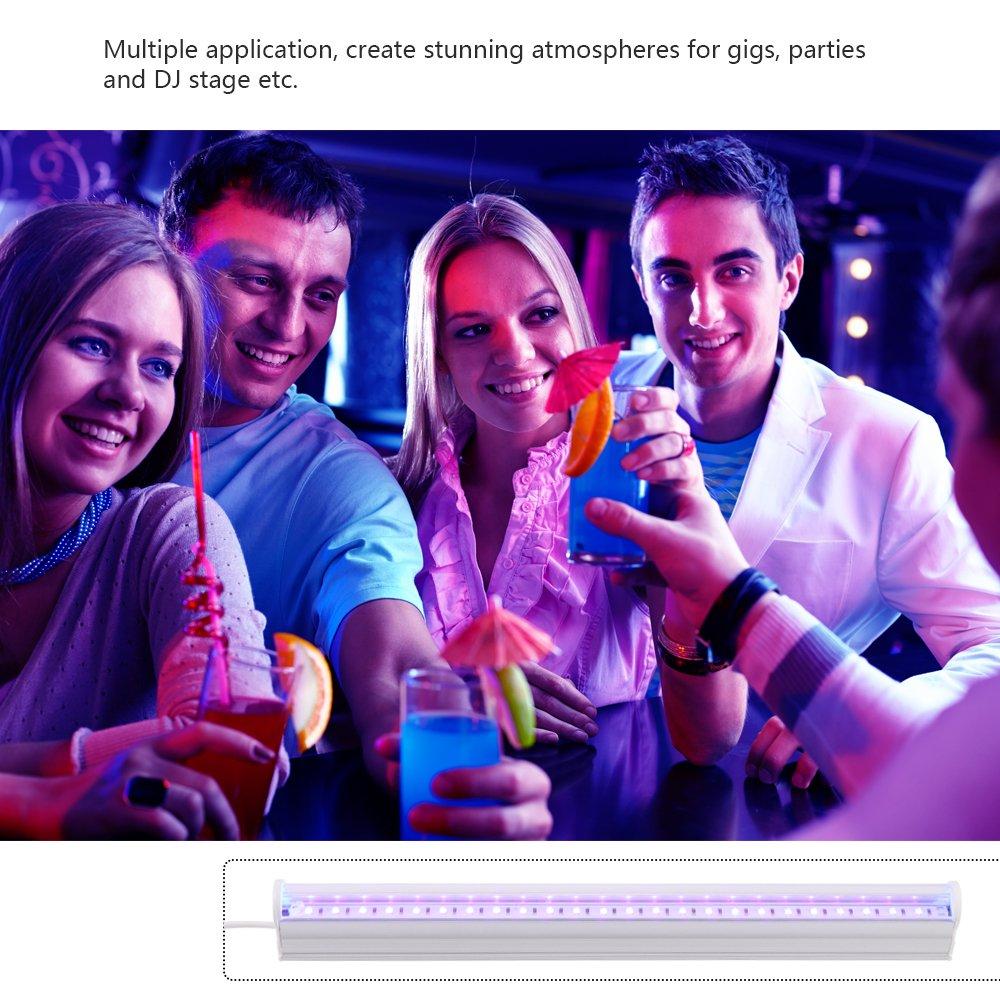 LED-Licht UV-24-LED-Schwarzlichtleuchten Blacklight-Lampe f/ür UV-Poster UV-Kunst Dimmbare Blacklight-Lampe f/ür DJ-Party und Urlaub Tragbare 6W