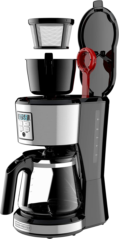 BLACK DECKER 12 Cup Programmable Coffee Maker in Stainless Steel CM1231SC