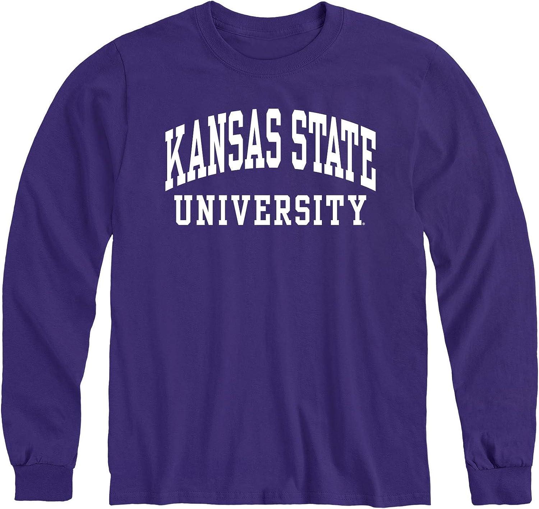 Ivysport Cotton Long Sleeve T-Shirt with Classic Logo School Color