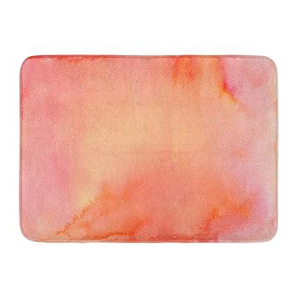 Coral Color Bathroom Rugs.Amazon Com Emvency Doormats Bath Rugs Outdoor Indoor Door Mat Peach
