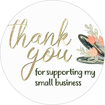 Thank you for your order small business//labels//stickers//postage//heart//cute