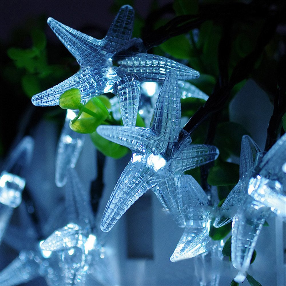 Starfish String Lights,Businda 30LEDs Fairy String Lights for Indoor & Outdoor Holiday Decorations (White) by Businda (Image #3)