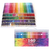 Global-store 160 Colored Pencils Set High-precision with Waterproof Handy Case Bright for Adults and Kids Coloring