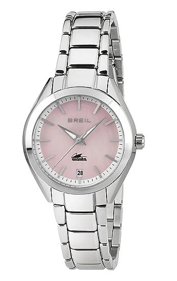 Breil Reloj Analógico para Mujer de Cuarzo con Correa en Acero Inoxidable TW1685: Amazon.es: Relojes
