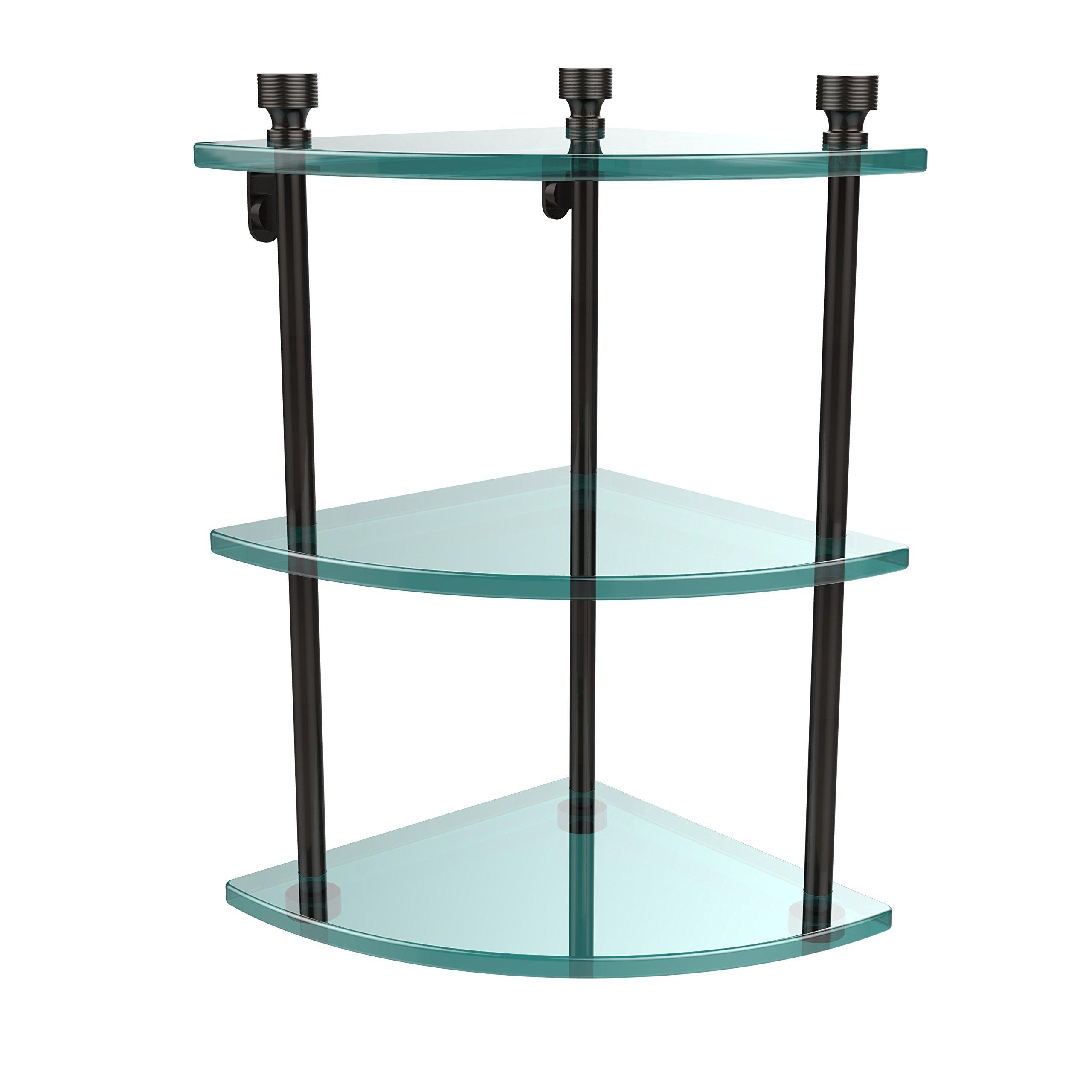 Allied Brass FT-6-ORB Triple Corner Glass Shelf Oil Rubbed Bronze by Allied Brass