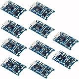 HiLetgo® 10個セット 5V 1A 18650 リチウムバッテリー チャージボード Micro USB チャージモジュール プロテクト [並行輸入品]
