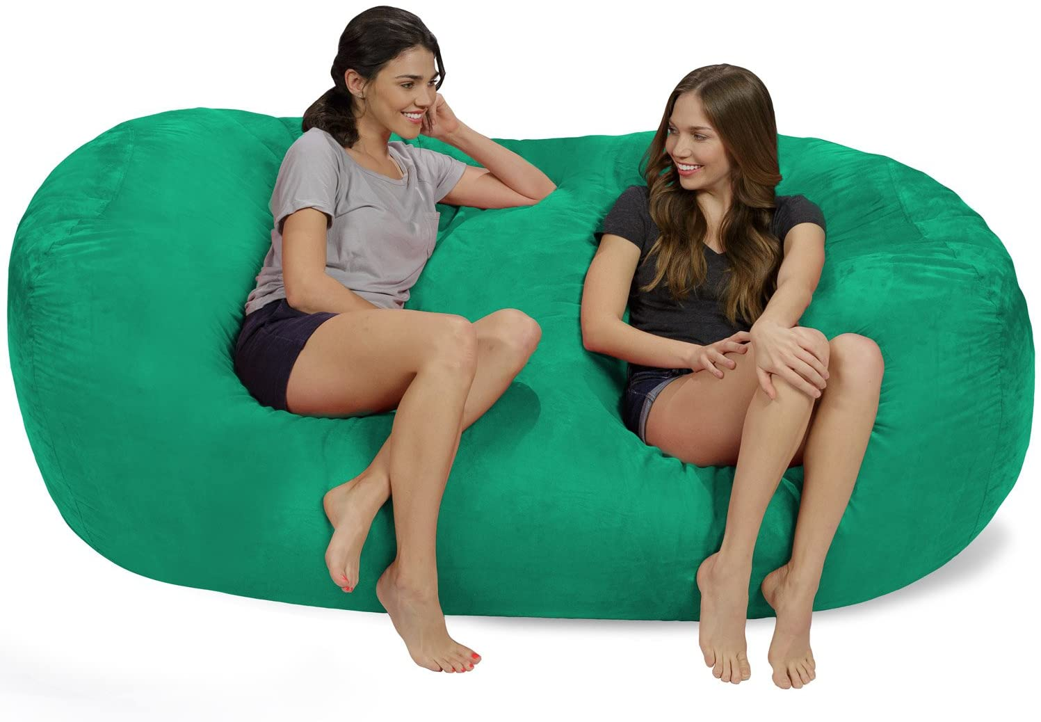 Chill Sack Bean Bag Chair: Huge 7.5' Memory Foam Furniture Bag and Large Lounger - Big Sofa with Soft Micro Fiber Cover - Tide Pool