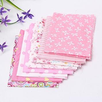 Baban 8pcs Telas de bricolaje de tela / tela de color rosa adecuados para el elemento decorativo ...