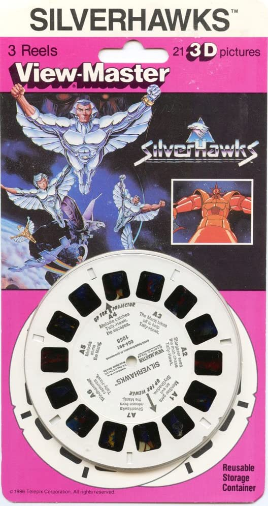 ViewMaster NEW Silverhawks 3 reels on card 21 3D images