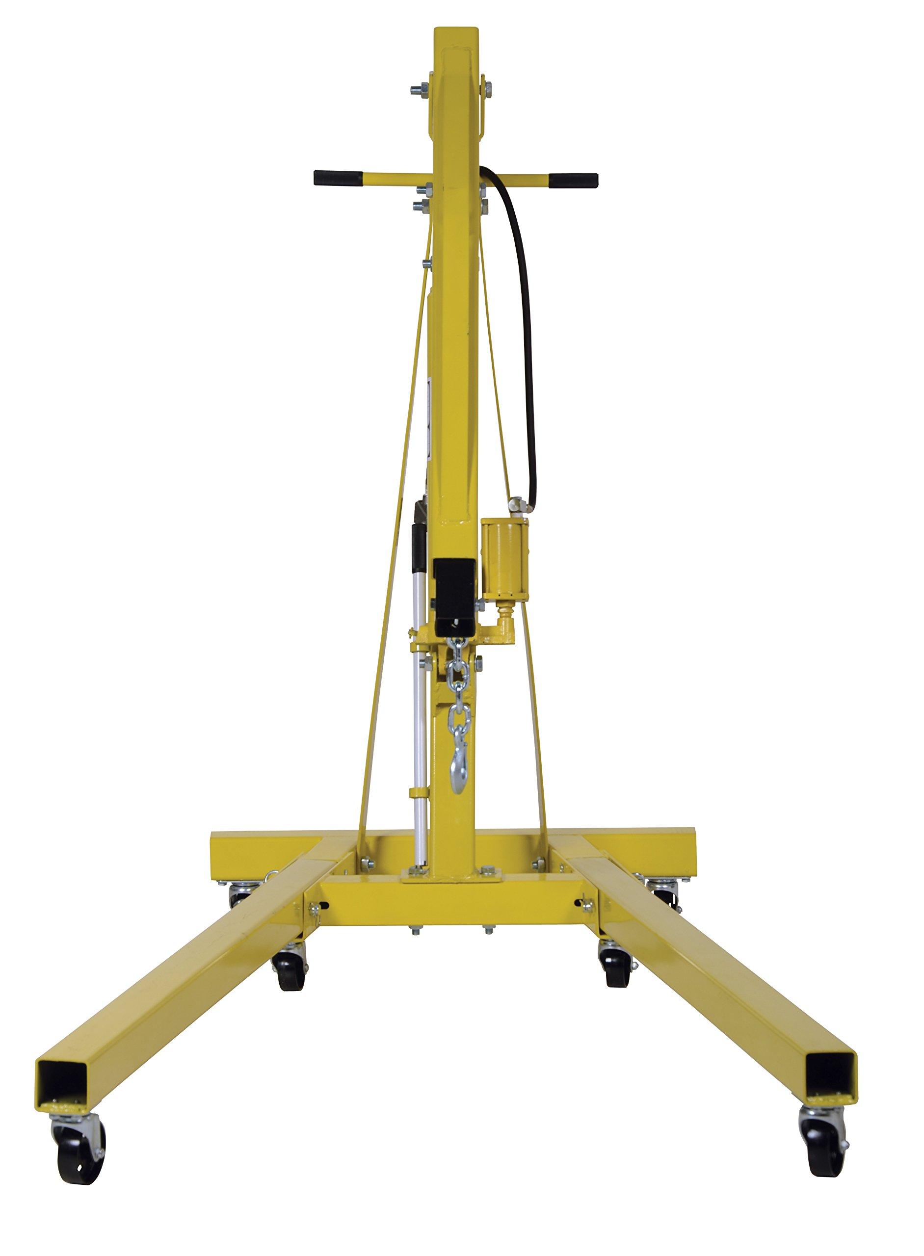 Vestil EHN-40-C-AH Steel Air/Hand Pump Hydraulic Shop Crane Engine Hoist with Folding Legs 4000 lbs Capacity by Vestil (Image #3)